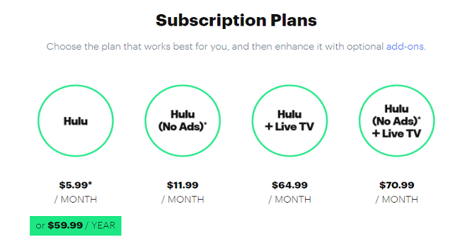 How much Hulu cost on smart TV