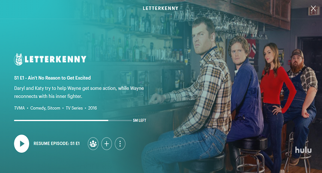 Hulu Canadian Shows - Letterkenny