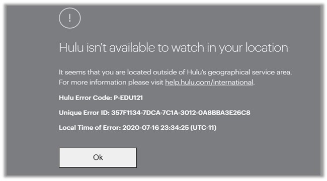 Hulu not available In Canada
