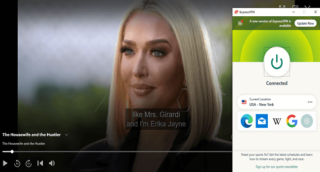 ExpressVPN working with the Housewife and the Hustle on Hulu